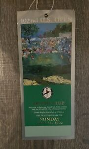 2002 US Open Championship  Final Round Ticket Tiger Woods Wins Tourney #32