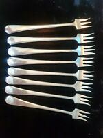 VINTAGE ROGERS & SONS AA SILVERPLATE 8 PIECE COCKTAIL PLATED FORKS