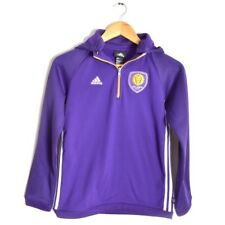 63827d00c Adidas Orlando City FC Jacket Youth Medium 10 - 12 MLS USA Soccer Hoodie  Purple