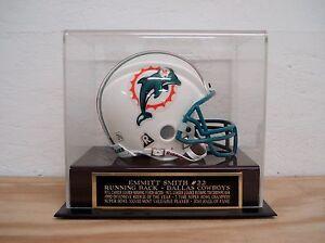 Emmitt Smith Football Mini Helmet Display Case With A Dallas Cowboys Nameplate