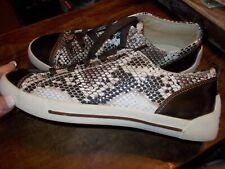 Kathy Van Zeeland Bronze TOE BROWN PYTHON Sneakers 7M~~SO CUTE!!