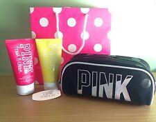 Victoria's Secret PINK Gift Set: 2 x Hand & Body Cream/Make Up Bag/Gift Bag