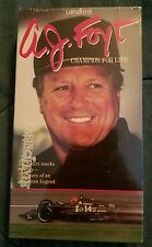 AJ Foyt Champion for Life VHS 1992 mint condition sealed new copy Cabin Fever