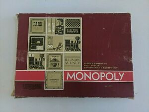 Monopoly, Big Red Box! Complete! Wood Grain Tray! (1974, Parker Brothers)
