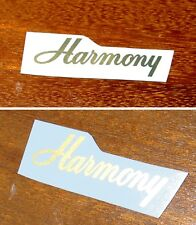 Gold Harmony Headstock Decals Decal Waterslide Bobkat Acoustic Archtop Guitar