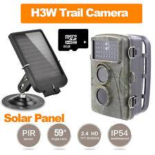 8GB 720P Wildlife Hunting Cam Infrared Video Trail 8MP Camera+6V Solar Panel K8