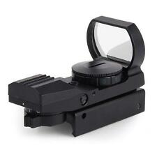 Black Tactical 20mm Rail Holographic Red Green Laser Dot Sight Scope Reflex  X3