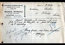 """CHARTRES (28) EPICERIE & VINS """"Maurice MOREAU"""" en 1928"""