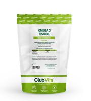 Omega 3 1000mg   90 capsules   FIsh Oil EPA DHA Heart Brain Eyes   ClubVits
