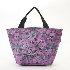 Eco Chic - Purple Dragonfly Print - Insulated Cool Lunch Bag