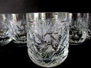 Bleikristall Glas 6 Trinkgläser Wasser Becher Saft Bier Gläser Schleuderstern
