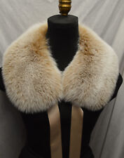 Real Snow Top Fox Fur Collar Blush New  made in the USA New