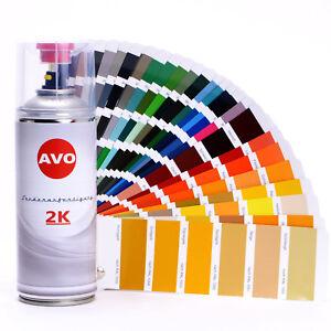 Autolack 2K Sprühdose RAL 9005 schwarz seidenmatt Spraydose Autolack AVO E0231