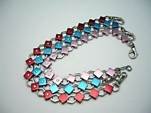 ZOPPINI Armband Edelstahl mit farbigen Aluminium-Elementen und Zirkonia *NEU*