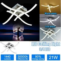Modern 3 or 4 Light LED Ceiling Lights Kitchen Living Bedroom Pendant Lamps