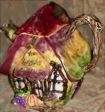 Blue Sky Clayworks Turning Leaf Teapot - New in Box - From 2009
