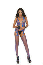 Fishnet Suspender Bodystocking One Size Adult Woman Exotic Clothing
