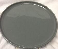 TREND PACIFIC STONEWARE BAUHAUS DARK GRAY/GREY 10 3/8 ROUND DINNER PLATE SIGNED