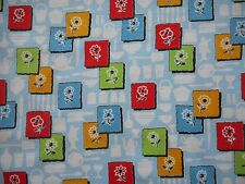 Pretty unused vintage 50's cotton kitchen floral barkcloth fabric, 1M lengths