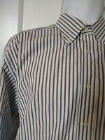 CANALI ITALY MEN'S Striped 100% COTTON LONG SLEEVE DRESS SHIRT 16.5 / 42 striped