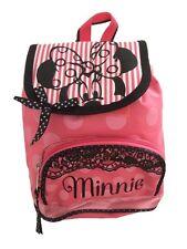 Disney Clásico MINNIE MOUSE Rosado chicas mochila / Preescolar Bolsa/Guardería