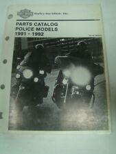 FXRP FLHTP Police parts catalog 99545-92 Harley FXR manual 1991 - 1992 EPS16439