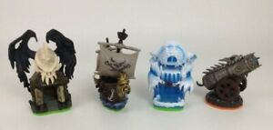 Skylanders Video Game Accessories Toy Figures 4pc Lot Pirate Ship Graveyard Ice
