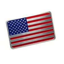 car truck auto American USA US flag emblem sticker metal badge decal decor