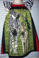 Zebra Mom and Baby    Friends  Girls dress Size 3t/4t Ready to Ship 21in length