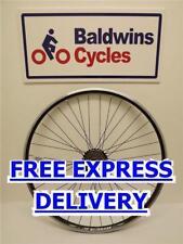 700c / 29er REAR Hybrid Bike Wheel D/ Wall BLACK Rim - Q/R + 6 SPEED FREEWHEEL