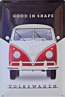PLAQUE METAL PUBLICITAIRE vintage VW combi GOOD IN SHAPE - 20 x 30 cm