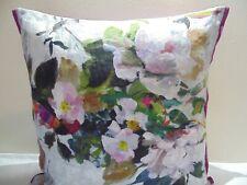 Designers Guild  floral 100% Linen Fabric Aubriet Amethyst Cushion Cover D3