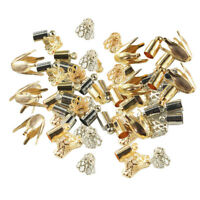 100 x Necklace Cord End Caps Tassel Crimp End Connector DIY Jewelry Findings