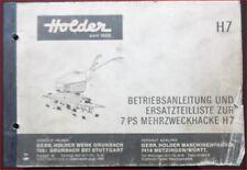 Holder Mehrzweckhacke H 7 Betriebsanleitung + Ersatzteilliste