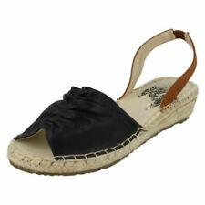 Sandalias con tiras de mujer negro textiles
