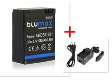 Batterie Blumax + Chargeur AHDBT-301 pour Gopro HD Hero3 Hero 3 3+
