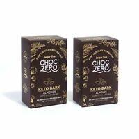 ChocZero's Keto Bark Dark Chocolate Almonds with Sea Salt-100% Stone-Ground 2 Bg