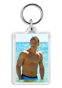 Daniel Craig (James Bond) Keyring / Bag Tag *Great Gift*