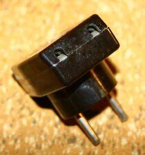 20er/30er Jahre Netzstecker-Adapter für Röhrenradios – bis 3 Geräte anschließbar