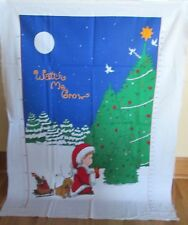 """1 Cute """"Watch Me Grow Chart"""" Christmas Cotton Fabric Quilting/Wallhanging Panel"""