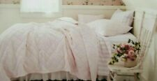 Simply Shabby Chic Hand Quilted & Stitched Pink Quilt NIP