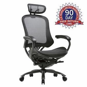 CLATINA Ergonomic High Mesh Swivel Executive Chair with Adjustable Height Head