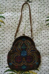 VINTAGE 1920s beaded evening bag handbag