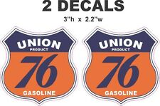 2 Union 76 Gasoline Shield Vinyl Decals