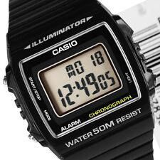 NEW CASIO W-215H-1AV BLACK ILLUMINATOR RESIN STRAP CHRONO SPORT UNISEX WATCH
