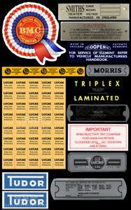 Morris Minor Restoration Decal Sticker Set