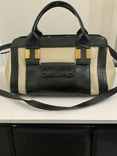 Auth CHLOE alice 2way Leather Hand