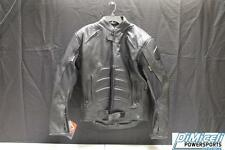 NEW MENS SMALL SML S PADDED GENUINE LEATHER SPORT BIKE JACKET *JACKETS RUN SMALL