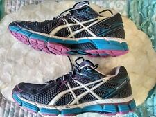 ASICS GT-2000 DINAMIC DUOMAX women's Shoes Size 9 black,pink and teal