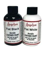 Angelus 4 oz Paint Duo, Flat Black and Flat White